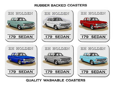 Holden  63'  64'   Eh  Sedan 179  Special    Set Of  6   Rubber Drink  Coasters