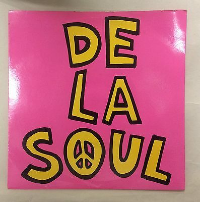 "RARE! De La Soul Me Myself And I 7"" Vinyl 45rpm UK Big Life BLR7 1989 EX/EX"
