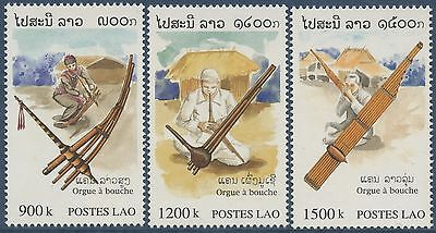 LAOS N°1331/1333**  Instruments de musique 1998, musical instruments Set MNH