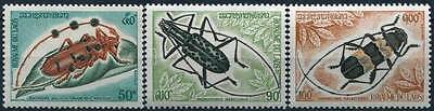 1974 Laos N°270/272* Serie Insectes / Insects Complete Set Mh