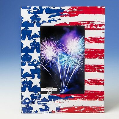 Patriotic stars and stripes 4x6 glass frame - Gift Favors / FC-12262