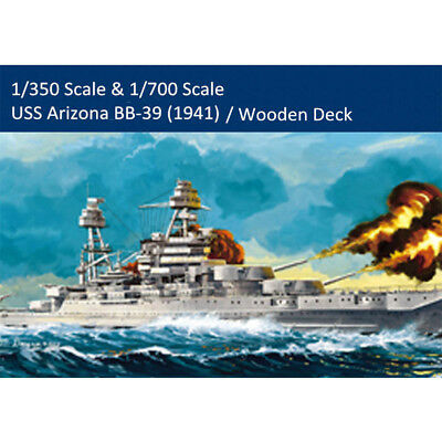 HobbyBoss 86501 83401 1/350 1/700 USS Arizona BB-39 (1941) Battleship Model Kits