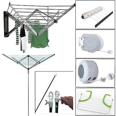 5Arms Wall Mounted Rotary Airer Washing Line Cloth Dryer Fordable Garden Outdoor