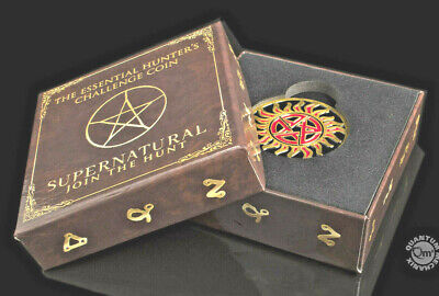 Supernatural QMX Hunters Anti Possesion Challenge Coin New in Stock