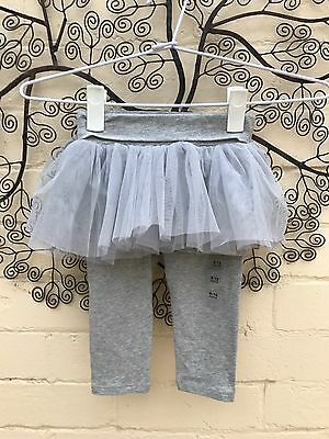 Gap - Baby - BNWT - Girls Grey Tutu Leggings - Size 6-12 Months.