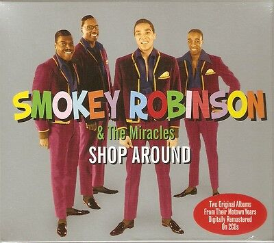 Smokey Robinson & The Miracles - Shop Around - 2 Original Albums 2CD NEW/SEALED