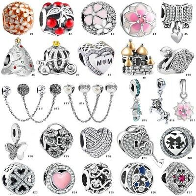 Fashion S925 European Silve Charm Beads For sterling Necklace Bracelet Chain