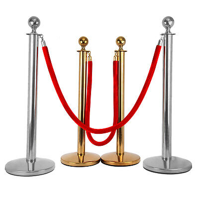 Crowd Control Stanchion Queue Barrier Posts Rope Safety Bank Cinema Exhibition