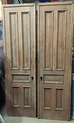 Antique / Historic Architectural Salvage Brownstone Pocket Doors