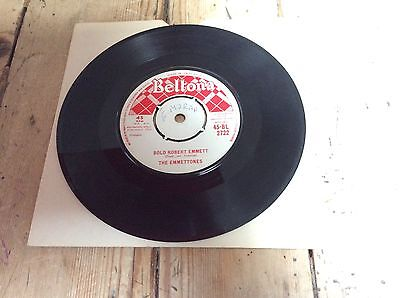 "THE EMMETTONES Bold Robert Emmet 7"" SUPER RARE IRISH FOLK BALLAD TRAD REPUBLICAN"