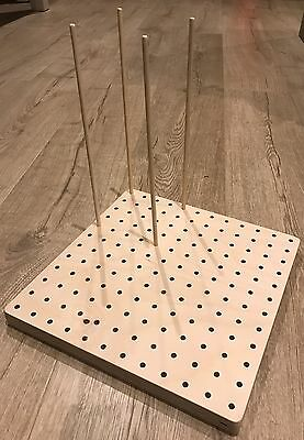 Crochet Knitting Blocking Board With 16 Smooth Dowels. MADE TO ORDER (12x12)