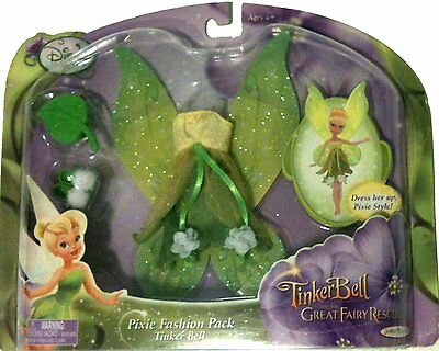 Disney TINKER BELL Fairy Pixie Fashion Pack Dress Shoes Fairies Dolls Doll