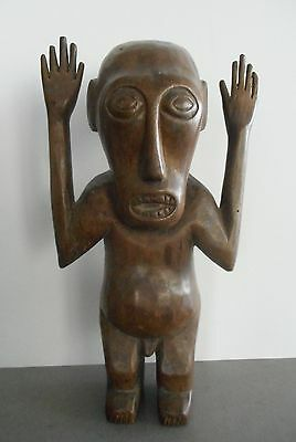 Fine Old Carved Tribal Statue Timor Indonesia
