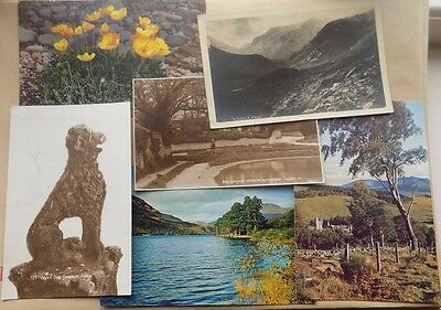 6 Old Postcards  Rottingdean Balmoral Grisedale etc unposted Writing on reverse
