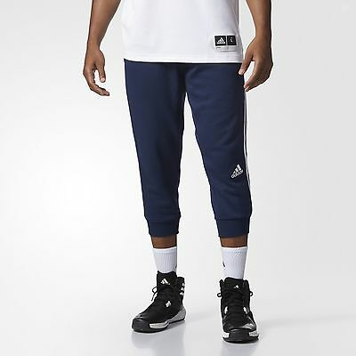 adidas 3-Stripes Three-Quarter Pants Men's Blue