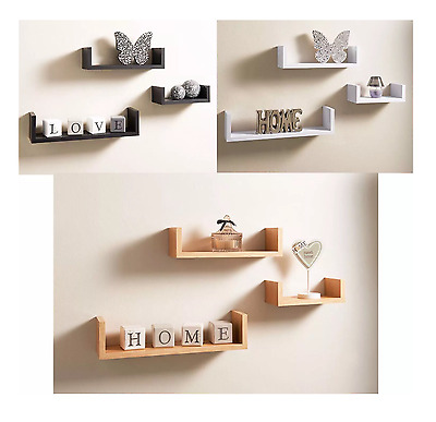 3 different sizes Ornaments display u shaped wall Shelves set