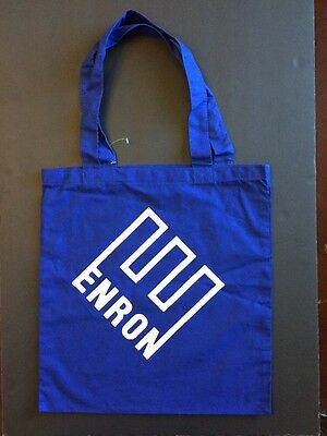 VTG NOS ENRON promotional canvas tote bag with hand/shoulder strap BLUE w/o tags