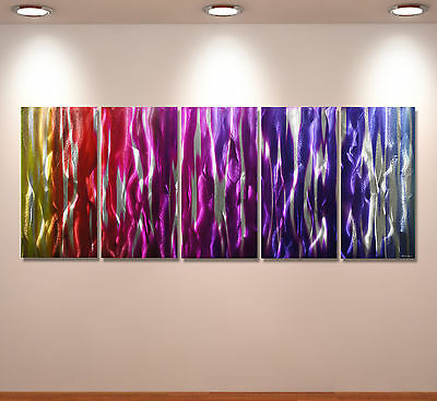 Metal Modern Abstract Wall Art Original painting Large Contemporary Aluminium