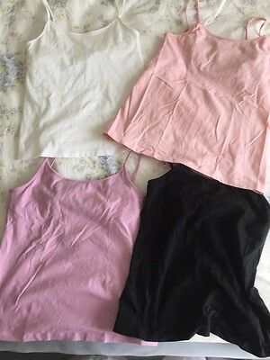 Lot of 4 Old Navy sz S M Stretchy Cotton tank tops