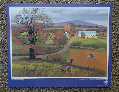1976 ALLIS CHALMERS Bicentennial Amber Waves of Grain Color Poster - ORIGINAL