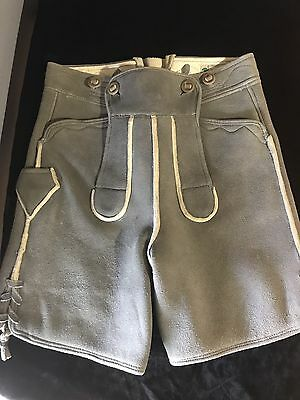 Men's Authentic Leather Lederhosen Shorts