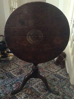A Georgian Oak Circular Tripod Tilt Top Side or Tea Table C1770