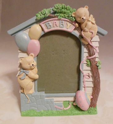 Plaster Baby Picture Frame Nib