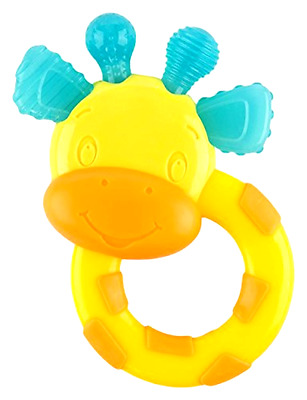 Toy Baby Teether Giraffe Teething Pacifier Tollder Chew Grow Massage Gums Rubber