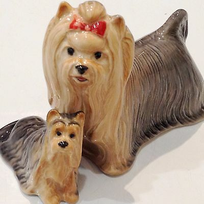 Yorkshire Terrie porcelain dogs figurine realistic Souvenirs from Russia