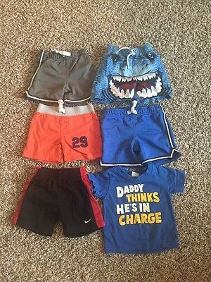 Lot Of 5 Shorts And 1 Shirt Carter's Nike Boys 12months