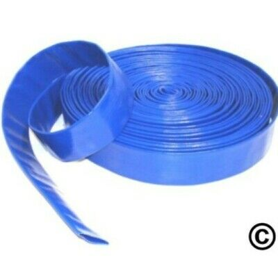 """1 1/4""""  32mm BlueLayflat PVC Water Delivery Hose - Discharge Pipe Pump Lay Flat"""