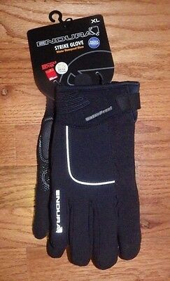 New XL Endura Strike Winter Waterproof Gloves Bike Cycling Black Full Finger