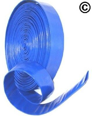 "2"" Layflat PVC Water Delivery Hose - Discharge Pipe Pump Lay Flat Irrigation"
