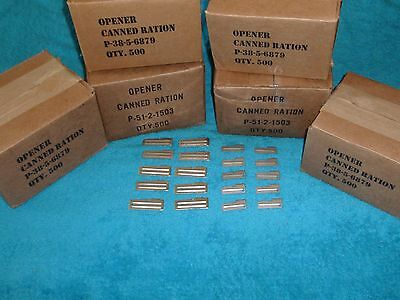 P-51 & P-38 Can Openers 20 Piece (10 Each ) US Shelby CO  - Good Survival Gear