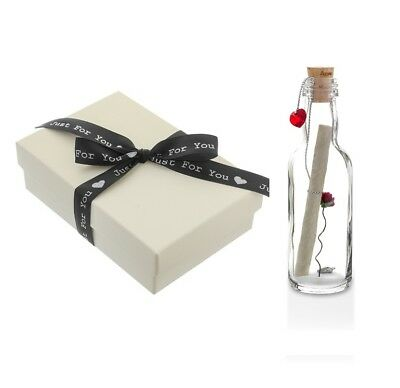 40th Ruby Wedding Anniversary Gift Ideas - Personalised Message in a Bottle Gift