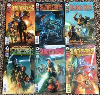 Star Wars Shadows of the Empire Comic Lot... Complete Set, Issues 1-6