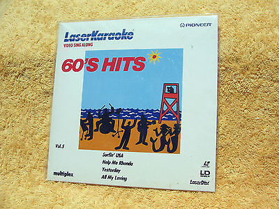 "Laser Karaoke 60's Hits Vol. 5 Music Video Sing A Long 8"" Laser Disc"