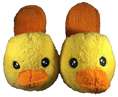 2 Pairs Yellow Duck Slippers Fit Adult Kids Teens Size 7 High Quality Soft Shoes