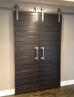 Double Sliding Barn Door Hardware Kit For Two Doors With 10 Feet Track 120
