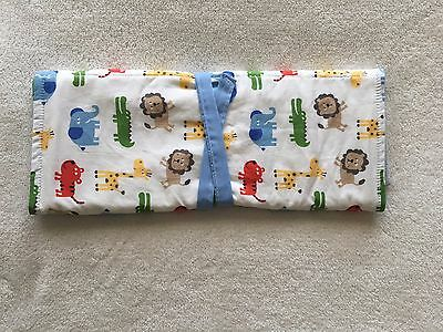 Hand Made - Baby Change Mat -Safari Animals