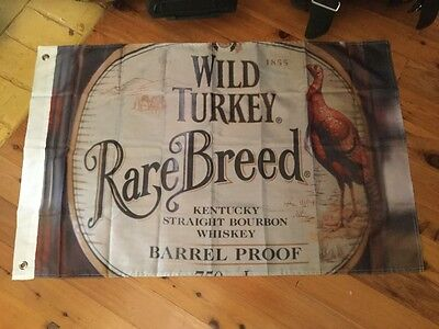 Wild turkey bar flag man cave art 5 x 3 ft Father's Day birthday gift pool room