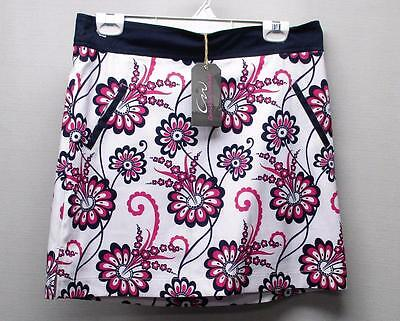 New Ladies Size 8 Cracked Wheat Driver print golf skorts