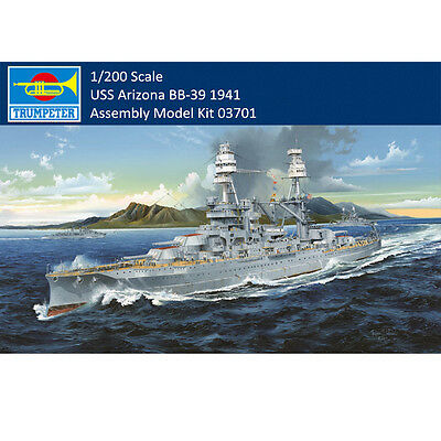 Trumpeter 03701 1/200 USS Arizona BB-39 1941 Battleship Asssembly Model Kits