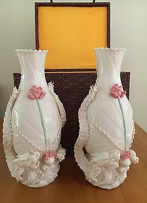 Pair of Chinese porcelain vases, 34cm tall