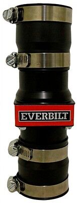 Everbilt 1.25 In. And 1.5 In. ABS In-Line Sump Pump Check Valve Stainless Clamps