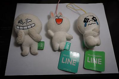 LINE Characters Moon and cony. lot of 3 *2 with tags!* Collectible