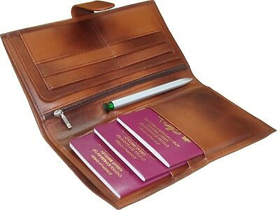 Travel Wallet Leather Multi Passport Boarding Pass Ticket Holder Premium Quality