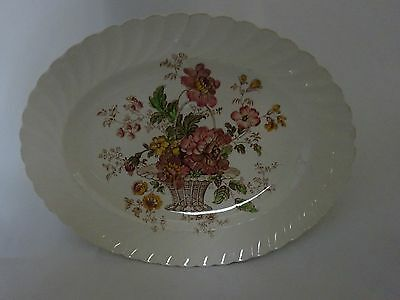 Vintage Royal Staffordshire Clarice Cliff Chelsea Rose Oval Platter