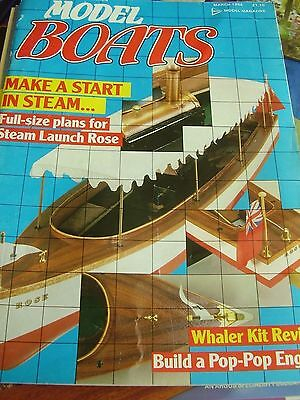 Model Boats March 1986 Steam Launch Rose Plan Charles W Morgan Whaler