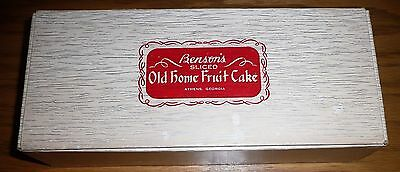 Vintage 1950s Benson's Sliced Old Home Fruit Cake ~ Empty 3 Lb Advertising BOX